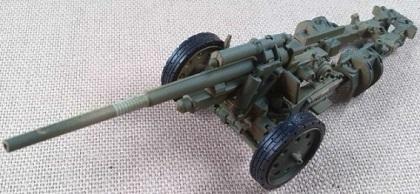 10,5 cm sK 18 (schwere kanone), 15.Pz.Div, El Alamein (Egipto), escala 1/72, IXO-Altaya