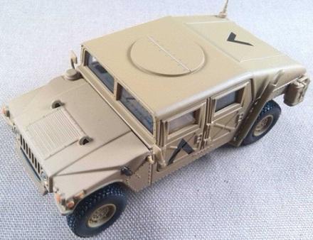 HMMWV Clossed Comm. Car, US Army, Kuwait, 1991, escala 1/43, Criel-DeAgostini