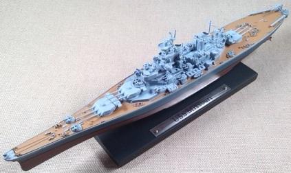 acorazado USS Missouri (BB-63), escala 1/1250, Atlas-DeAgostini