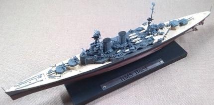 crucero de batalla HMS Hood, escala 1/1250, Atlas-DeAgostini