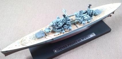 crucero de batalla HMS Prince of Wales, escala 1/1250, Atlas-De Agostini