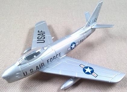 F-86F Sabre, USAF, guerra de Corea, escala 1/110, Model Power-Del Prado