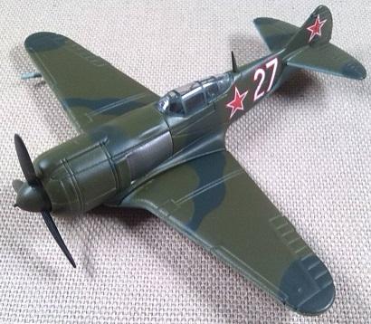 Lavochkin La-5, Fuerza Aérea soviética, escala 1/100, DeAgostini