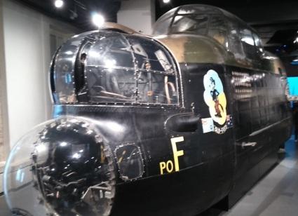 sección de proa de un Lancaster expuesta en el Imperial War Museum de Londres