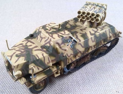 15 cm Panzerwerfer 42 (Sd.Kfz.4/1), Wf.Bgde. 7, Francia, 1944, escala 1/72, IXO-Altaya
