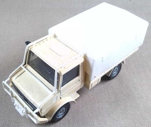 Mercedes Unimog, Naciones Unidas, escala 1/50, Solido