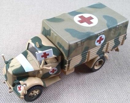 Opel Blitz 3,6-36S sanitario, 21 Pz.Div., Medenine (Túnez), 1943, 1/72, IXO-Altaya