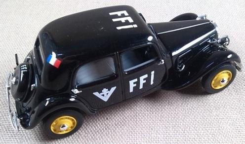 Citröen 11 de las Fuerzas Francesas del Interior (FFI), 1945, escala 1/43