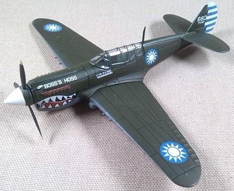 P-40, escuadrilla americana voluntaria en China, escala 1/72, IXO-Altaya