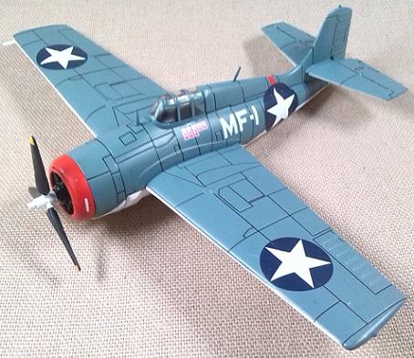 Grumman F4F-3 Wildcat, US Navy, escala 1/72, IXO-Altaya
