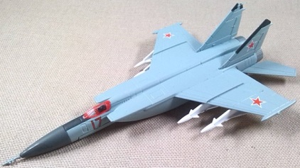 MiG-25, Fuerza Aérea soviética, escala 1/144, DeAgostini