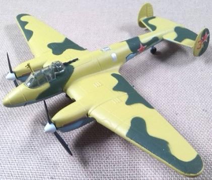 Petlyakov Pe-2, Fuerza Aérea soviética, escala 1/120, DeAgostini