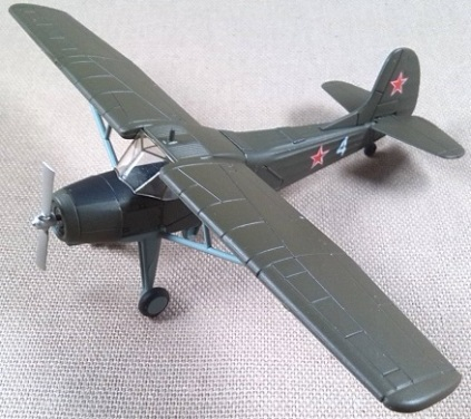 Yak-12, Unión Soviética, escala 1/87, DeAgostini
