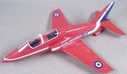 """Hawk de la patrulla acrobática de la RAF """"Red Arrows"""", escala 1/72, Corgi"""