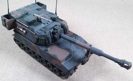 M-109 SPG de 155 mm, escala 1/72, IXO-Altaya