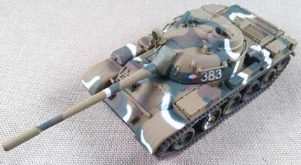 T-54, Ejército checoslovaco, 1978, escala 1/72, IXO-Altaya