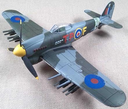 Typhoon Mk.1b, RAF, escala 1/72, IXO-Altaya