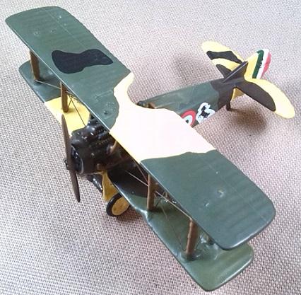 S.XIII del as de la aviación italiana Francesco Baracca en la I guerra mundial, escala 1/72, DeAgostini