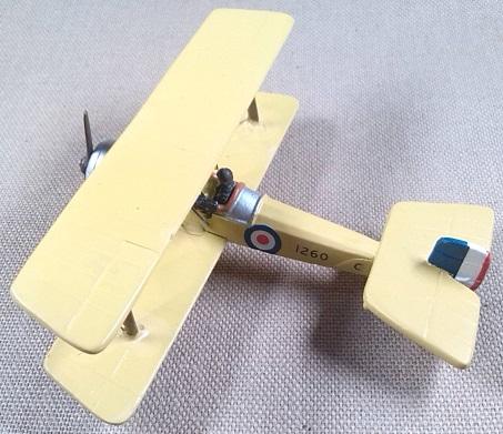 Scout C de la aviación militar británica, 1916, escala 1/72, DeAgostini
