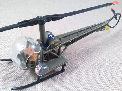 H-13C de evacuación sanitaria, US Army, guerra de Corea, escala 1/72, Corgi