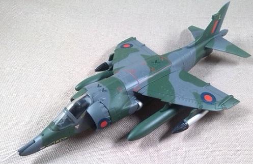Harrier GR.3 de la RAF, escala 1/72, IXO-Altaya
