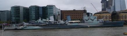 HMS Belfast conservado en el río Támesis, Londres