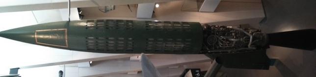 Misil V-2 expuesto en el Imperial War Museum, Londres