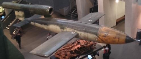 Bomba volante alemana V-1, Imperial War Museum, Londres